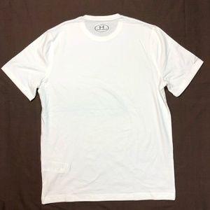 Men's White Under Armour Short Sleeve Tee, Size M